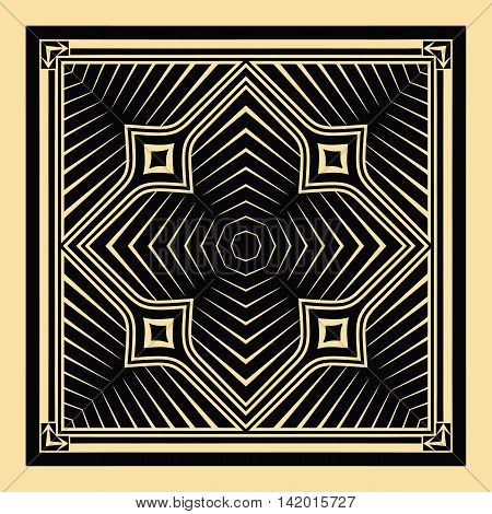 vector illustration texture pattern in black on a yellow background elements of geometric shapes square shape