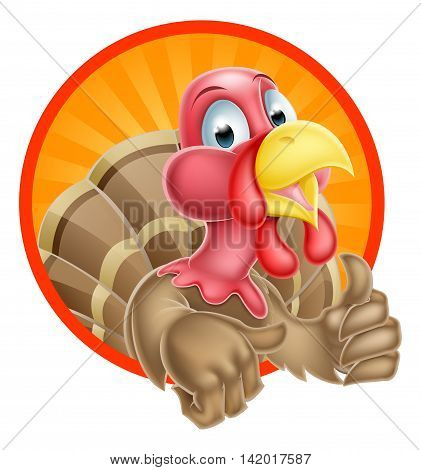 Cartoon Turkey Mascot