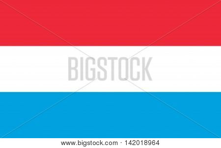 Flag of Luxembourg illustration country, banner, west, national