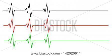 Heart Rhythm, Ecg Line Vector Symbol Icon Design. Beautiful Illustration Isolated On White Backgroun