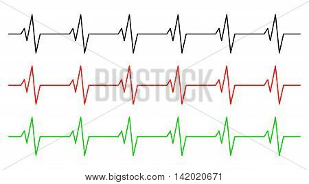 Heart Rhythm, Ecg Line Vector Symbol Icon Design. Beautiful Illustration Isolated On White Backgroun