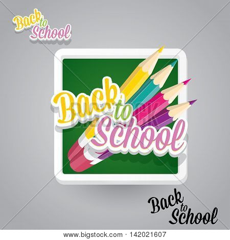 orange pencil with text Back to school vector background. back to school vector concept illustration.