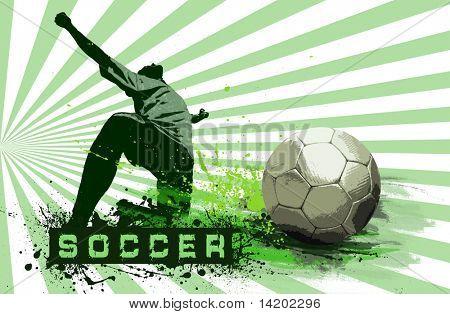 Fondo de balón de fútbol Grunge