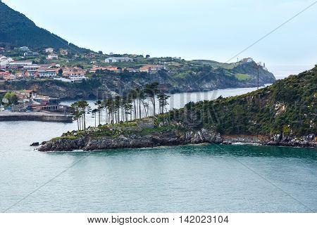 Lekeitio Town Coasline, Biscay, Spain.