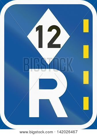 Road Sign Used In The African Country Of Botswana - Reserved Lane For High-occupancy Vehicles