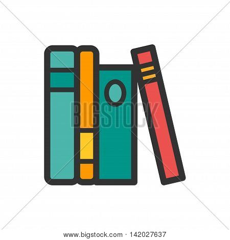 Business office standing folders icon. Vector illustration