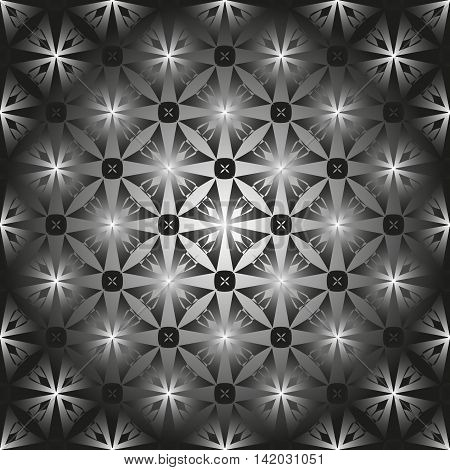 Pattern for Stained-glass window. Black and white pattern of the convex glass tile or tiles.