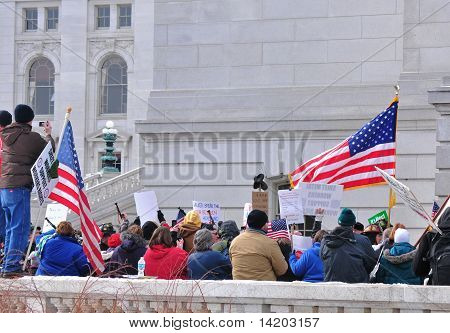 Patriotic Crowd