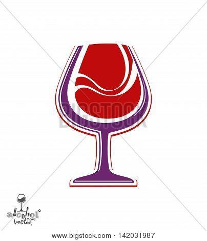 Beautiful vector wine goblet alcohol theme illustration.