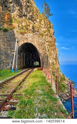 Tunnel On Circum-baikal Railway