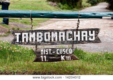 Tambomachay  sign board