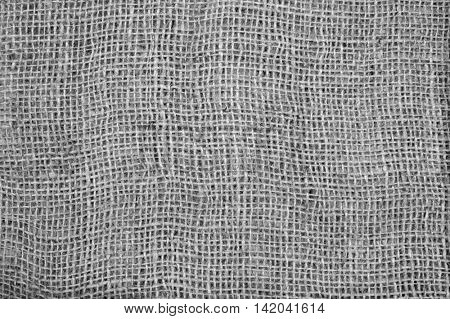 Gray sackcloth textured for background.