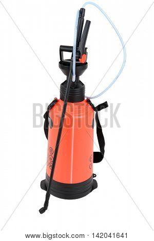 Manual gardner sprayer isolated on white