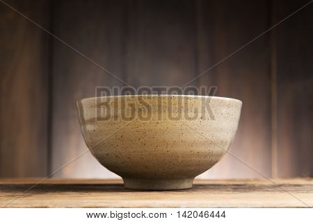 Bowl Japanese, Bowl Japanese style on wood background