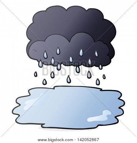 freehand drawn cartoon rain cloud