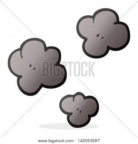 freehand drawn cartoon smoke cloud symbol
