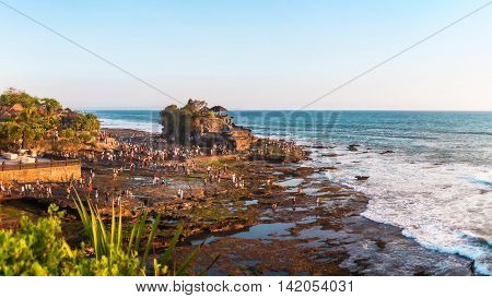 Temple on the Beach, Tanah Lot, Bali, Indonesia