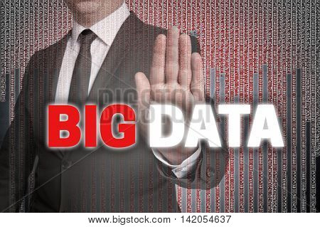 Big Data With Matrix Is Shown By Businessman