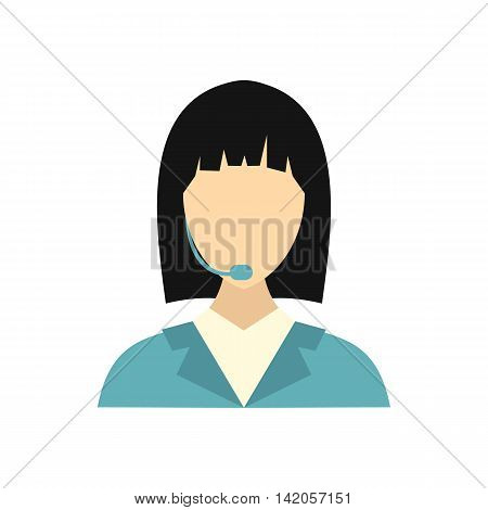 Dispatcher icon in flat style on a white background