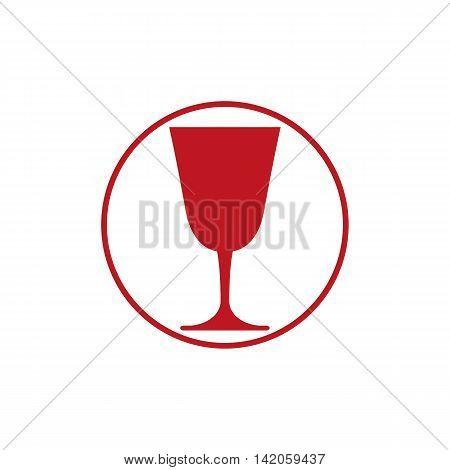 Classic champagne glass alcohol beverage theme illustration.