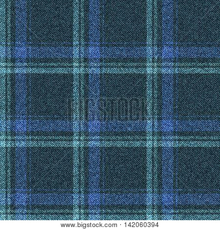 Seamless denim pattern texture. Jeans fabric into the cell. Vector illustration.