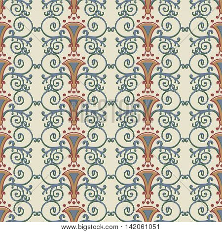 Seamless pattern stylized the ancient Roman. Vector illustration.
