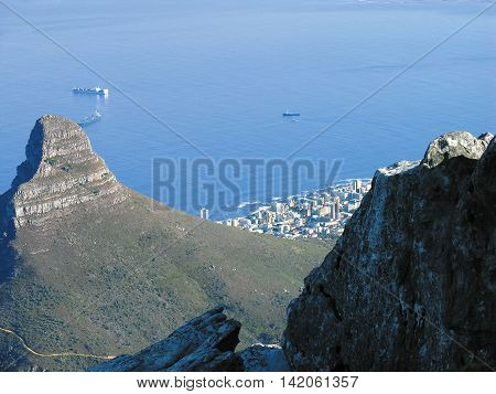 From Top Of Table Mountain, Cape Town South Africa