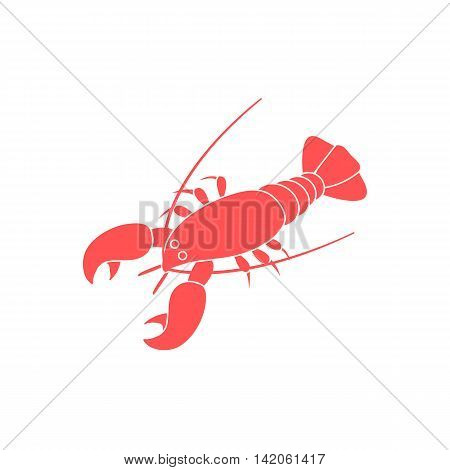Stylized Icon Of A Colored Lobster On A White Background