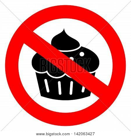 No sweets diet sign illustration isolated on white background