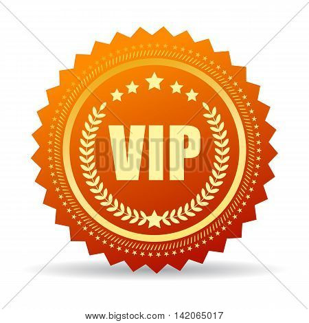 Vip gold medal illustration isolated on white background