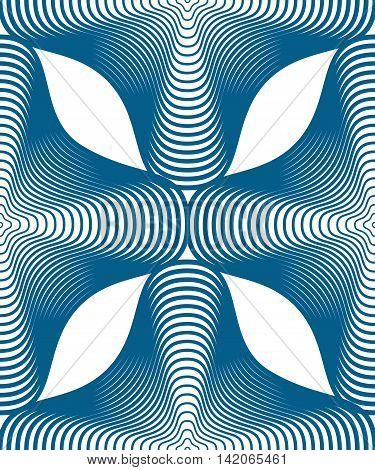 Geometric blue stripy seamless pattern bright vector abstract background.