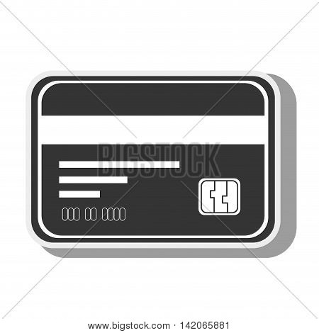 card  credit debit money pay chip transaction plastic  money vector graphic isolated and flat illustration