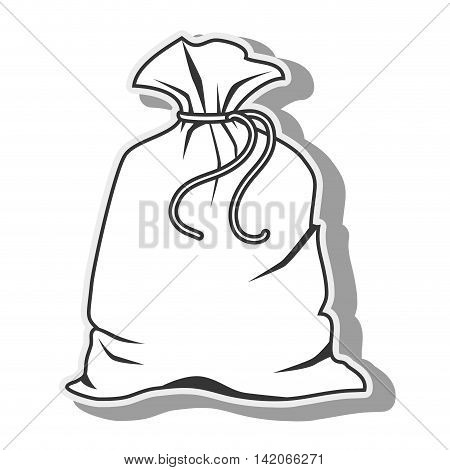 bag sack package carry object textile fabric vector graphic isolated and flat illustration