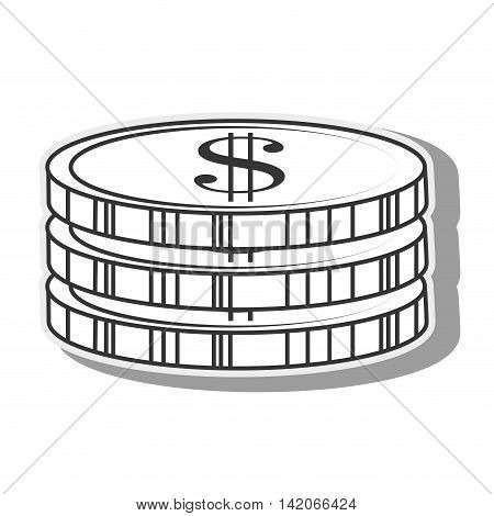 coins  cash money business economy earn stack commerce vector graphic isolated and flat illustration