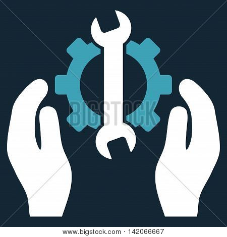 Repair Service vector icon. Repair Service icon symbol. Repair Service icon image. Repair Service icon picture. Repair Service pictogram. Flat blue and white repair service icon.