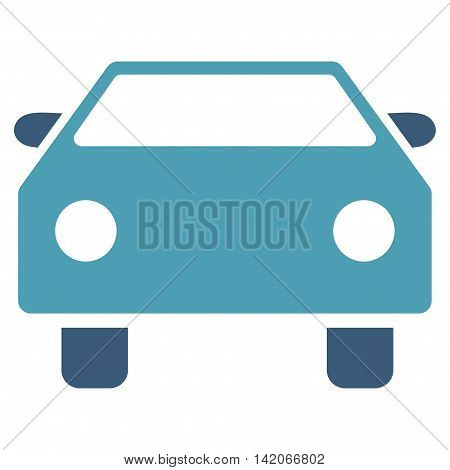 poster of Car vector icon. Car icon symbol. Car icon image. Car icon picture. Car pictogram. Flat cyan and blue car icon. Isolated car icon graphic. Car icon illustration.