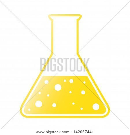 Vector Yellow Tint Conical Flask Chemical Icon