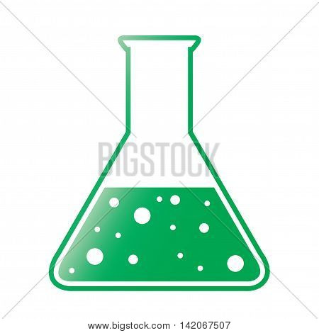 Vector Green Tint Conical Flask Chemical Icon