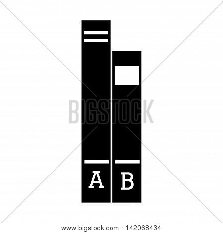 folder documents work archives office supplies desk  vector graphic isolated and flat illustration