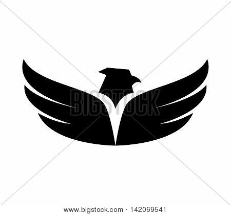 eagle wing front bird heaven fly eagle nature freedom sign icon vector graphic isolated and flat illustration
