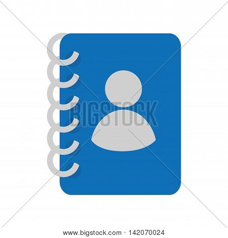 contacts book phones address notebook mobile personal communication telephone profile vector graphic isolated and flat illustration