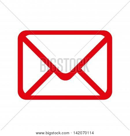 mail envelope post postal correspondence letter post newsletter vector graphic isolated and flat illustration