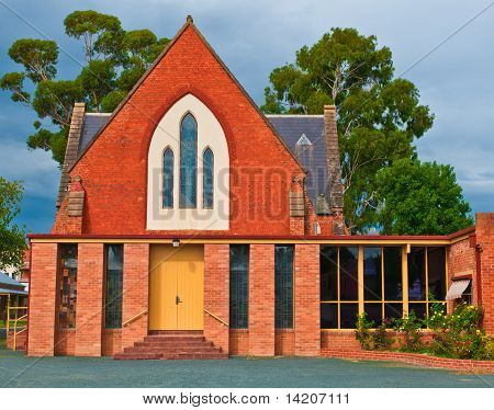 Outback Church On A Stormy Day