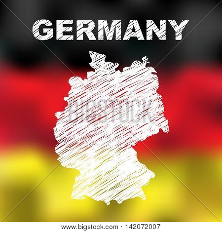 German Abstract Map