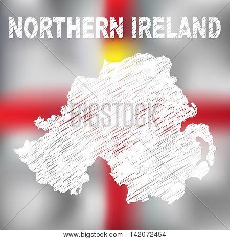 North Irish Abstract Map
