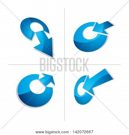 Three-dimensional Graphic Elements Collection With Arrows Pointing Into Target, Business Development