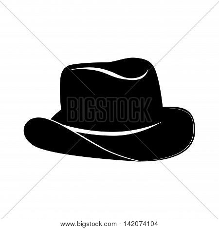 hat cowboy rancher west sheriff classic rodeo vector graphic isolated and flat illustration