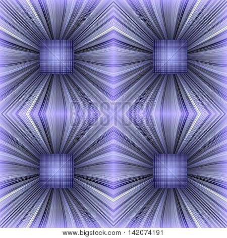 Pattern of striped and plaid objects. Volumetric abstract background. 3D effect