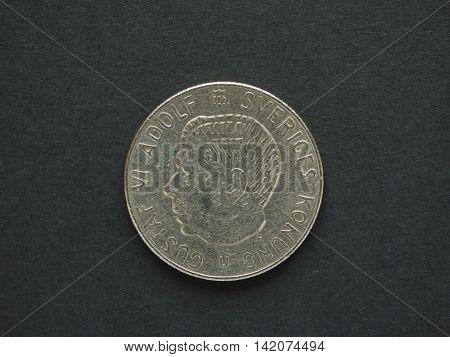 1 Swedish Krona (SEK) coin currency of Sweden (SE)