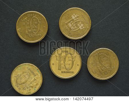 10 Swedish Krona (SEK) coin currency of Sweden (SE)
